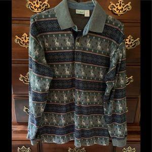 LLBean Long sleeved polo shirt
